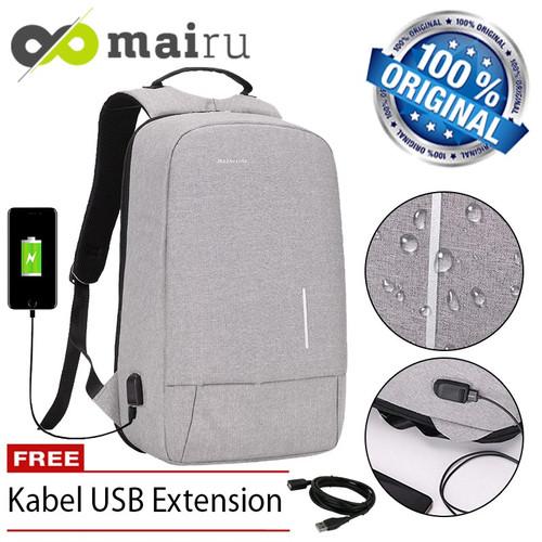 Foto Produk Mairu Tas Ransel Pria Wanita Laptop Sekolah Anti Maling Backpack 3194W - Hitam dari TokoUsbcom