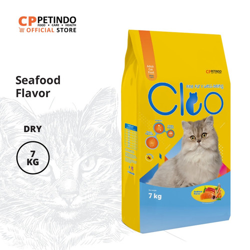 Foto Produk CPPETINDO Cleo Seafood Adult Cat Food - 7 Kg+1kg Free Catnip dari CPPETINDO