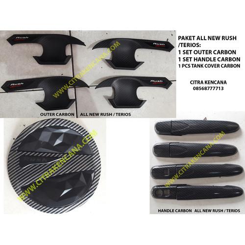 Foto Produk PAKET OUTER+HANDLE+TANK COVER CARBON ALL NEW RUSH / TERIOS dari CITRA KENCANA