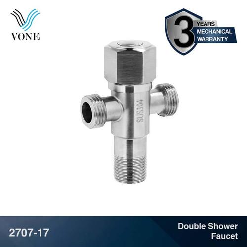 Foto Produk VONE 2707-17 Keran Stop Kran Air Toilet Kloset WC Jet Shower Cabang T dari Vone Sanitary Indonesia