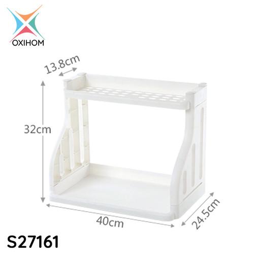 Foto Produk Oxihom Rak Dapur Susun Plastik Tempat Penyimpanan perlengkapan rumah - S27161 Putih dari Oxihom