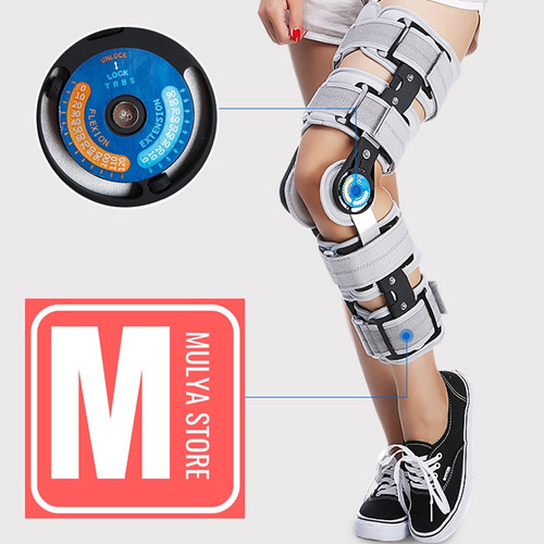 Foto Produk Post Op Knee Brace Deker Penyangga Lutut Paska Operasi ACL Arthroscopy - Hitam dari Mulya Store