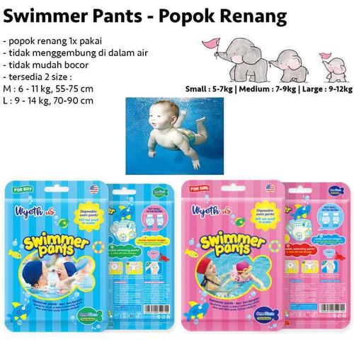 Foto Produk Swimmer Pants Celana Renang Bayi Diapers Renang Wyeth Disposable Swimm dari CikucikuBabyShop Bandung