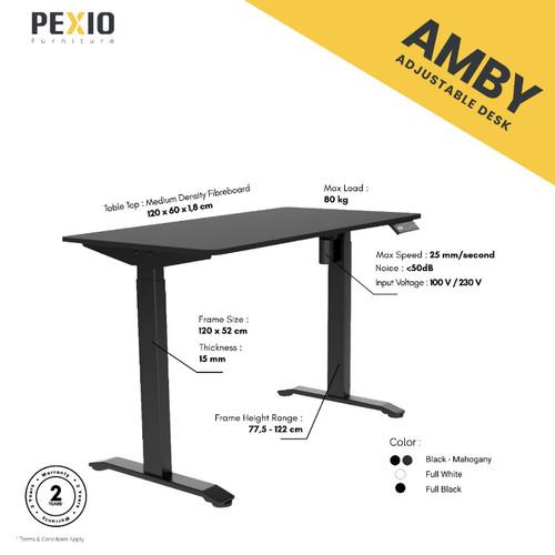 Foto Produk Automatic adjustable desk | Meja Electric Otomatis | PEXIO | Amby - Hitam dari PEXIO Furniture