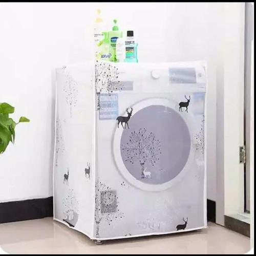 Foto Produk Sarung Penutup Mesin Cuci Bukaan Depan PEVA Washing Machine Cover - Deer dari Home Diaries