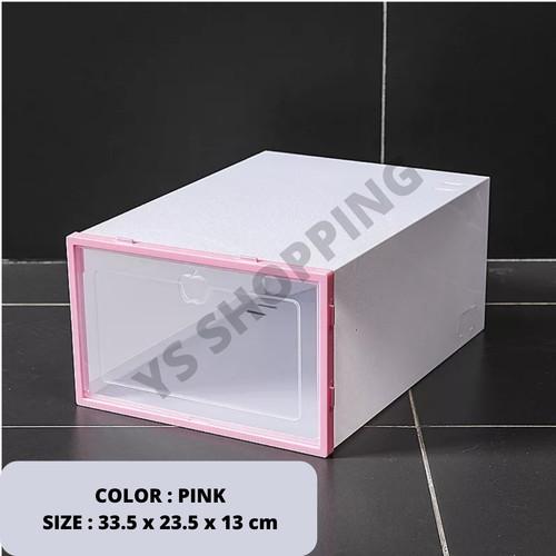 Foto Produk sneaker box / kotak sepatu - Merah Muda dari stevenyenshop