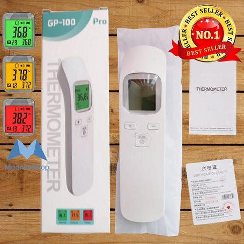 Foto Produk Thermometer Suhu Badan Termometer Infrared Non Contact GP-100 dari Moonee Shop