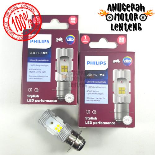 Foto Produk Philips H6 M5 LED Lampu Depan Motor Bebek Matic Hi Low DC Putih dari Anugerah Lenteng