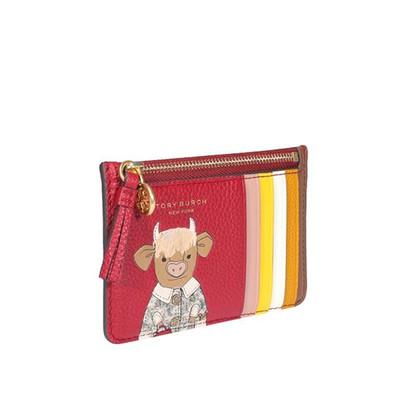 Foto Produk TORY BURCH OZZIE THE OX PRINT CARD HOLDER IN RED dari rinbagid