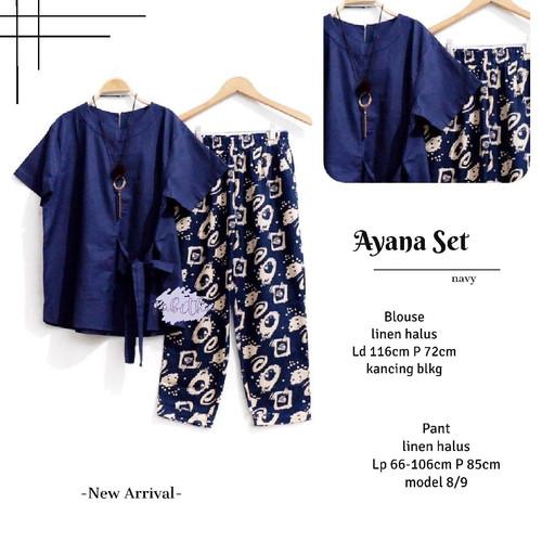 Foto Produk New Ayana Set Setelan Celana Wanita Modis Casual Lengan Pendek Jumbo dari Ilyassa Shop