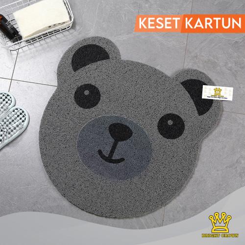 Foto Produk (KK) KESET KARAKTER MIE KARTUN LUCU UK 60 X 60CM ANTISLIP/3 motif - beruang abu-abu dari Bright Crown Official