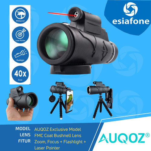 Foto Produk AUQOZ Teleskop Monokular Laser HD + Night Vision Bushnell 50mm Lens dari esiafone