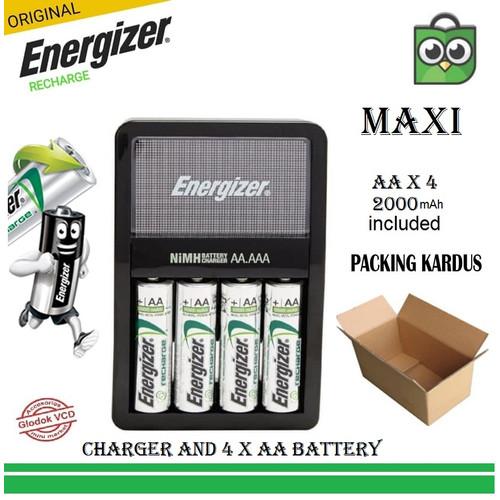 Foto Produk Energizer Charger + Battery AA 1.2 v 2000mAh 4pcs dari Glodok VCD