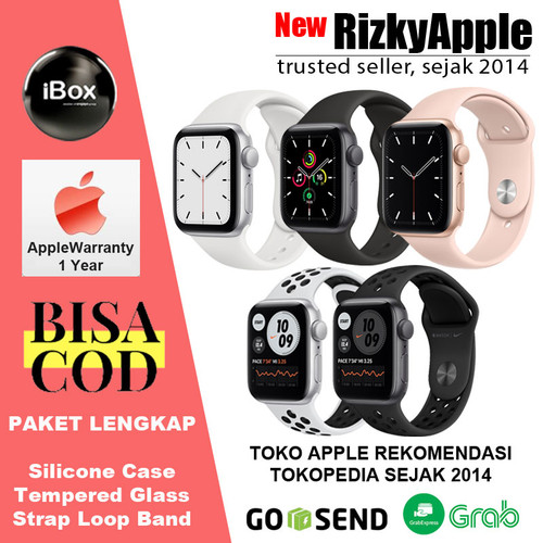 Foto Produk Apple Watch Series SE 2020 44mm 40mm Black Grey White Pink Gold 6 - 40mm NonBonus, Black Grey dari New Rizkyapple
