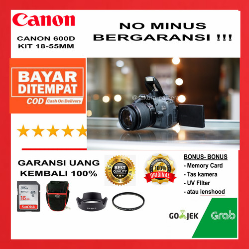 Foto Produk Canon 600d kit 18-55mm - 600d + 18-55mm dari SAKURA CAMERA