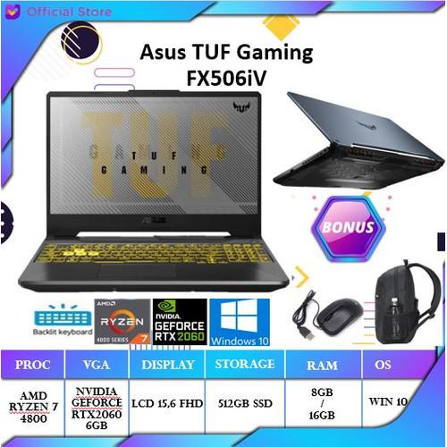 Foto Produk ASUS TUF A15 FX506 - RTX2060 6GB Ryzen 7 4800 8GB 512SSD 15.6FHD win10 dari Gateway Indonesia Comp