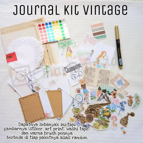 Jual Journal Kit Jurnal Kit Planner Kit Vintage Aesthetic Nature 30 Kota Surabaya Marie Art Tokopedia