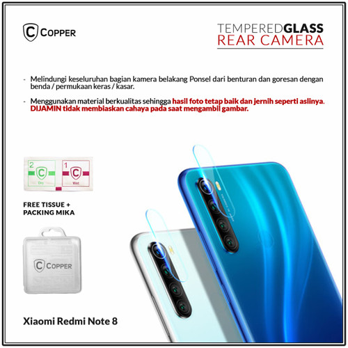 Foto Produk Xiaomi Redmi Note 8 - Copper Tempered Glass Kamera dari Copper Indonesia
