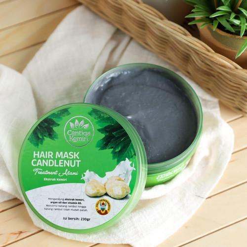 Foto Produk Hair mask Cantiqa Kemiri masker rambut rusak creambath conditioner dari NadiaCantiqaKemiri