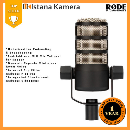 Foto Produk Rode PodMic Dynamic Podcasting Microphone dari Istana Kamera Official