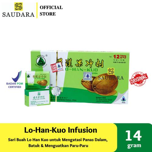 Foto Produk LO-HAN-KUO INFUSION, LO HAN KUO LOHANKUO PANAS DALAM SAKIT TENGGOROKAN dari Saudara Official Store