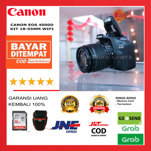Foto Produk Canon 4000d kit 18-55mm dari SAKURA CAMERA
