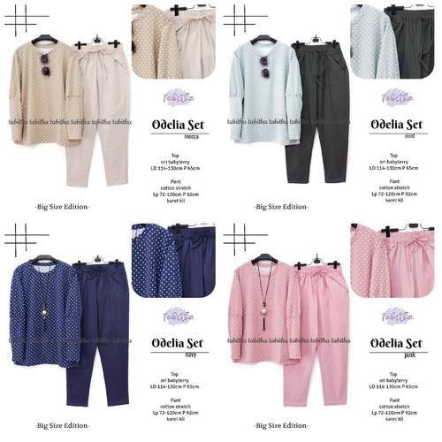 Foto Produk New Odelia Set Setelan Celana Wanita Jumbo Big Size Modis Casual dari Ilyassa Shop