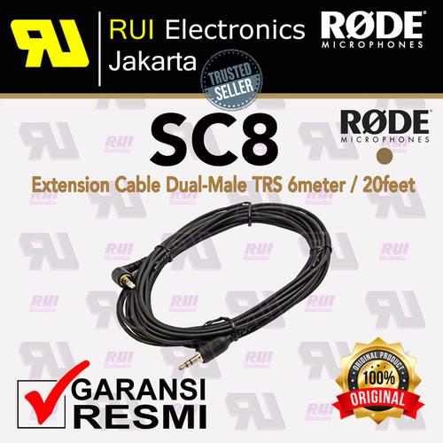 Foto Produk RODE SC8 Extension Cable Dual-Male TRS 6 meters / 20 feet dari RUI Electronics Jakarta