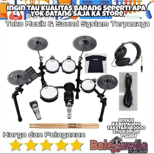 Foto Produk Drum Elektrik Electric Drum Set Nux DM 7X New NUX DM7X Bonus Headphone dari TIPTOP MUSIK&SOUNDSYSTEM