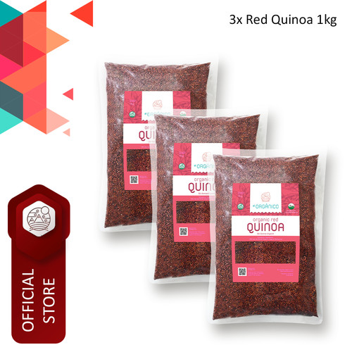 Foto Produk Red Quinoa Organic El Organico 1kg (Triple Pack) dari ELorganico