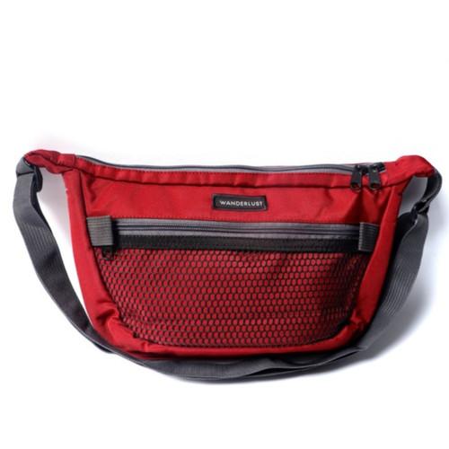 Foto Produk Wanderlust - Tas Selempang Sling Bag - Frisco - Maroon Grey dari Wanderlustbag Official