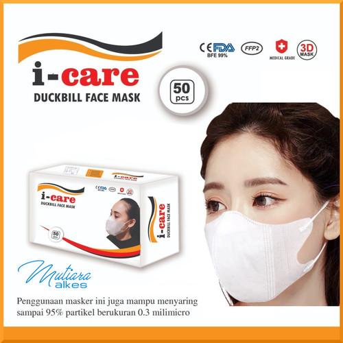 Foto Produk MASKER DUCKBILL FACE MASK 3 PLY I-CARE ISI 50 PCS dari aptsehatifarma