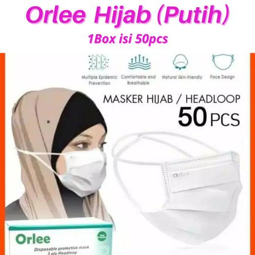 Foto Produk Masker Orlee 3ply Hijab (Putih) dari YK kampus