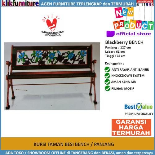 Foto Produk Kursi Taman Besi Bangku Taman BLACKBERRY BENCH dari klikfurniture