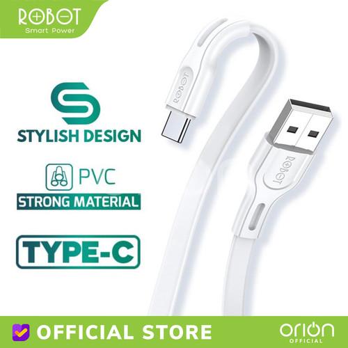 Foto Produk ROBOT Kabel Data Quick Charging USB Type C RDC100S Kabel Charger 2.4A - 1M dari ORION Official
