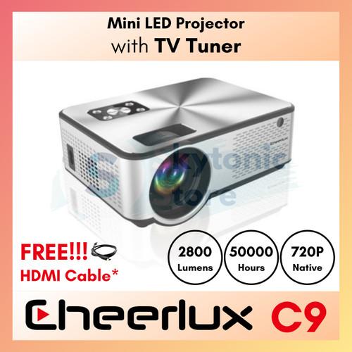Foto Produk CHEERLUX MINI LED PROJECTOR C9 TV TUNER 2800 LUMEN dari skytonic store