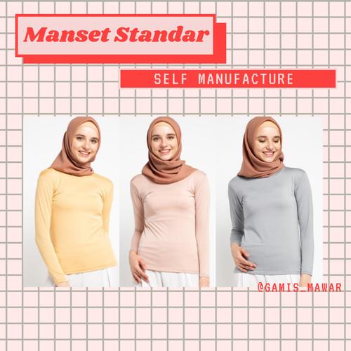 Foto Produk Manset Baju/Daleman Jersey Murah/Atasan Wanita - Navy dari Mawar Official Store ID