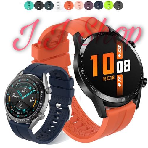 Foto Produk Strap Silicon Model Original Huawei Watch GT 2 2019 Tali Jam Tangan dari Logam Mulia Termurah