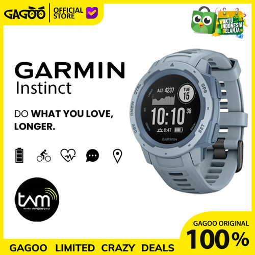 Foto Produk Garmin Instinct GPS [ORIGINAL] Smartwatch Garansi Resmi TAM - Black Graphite dari Gagoo Official Store