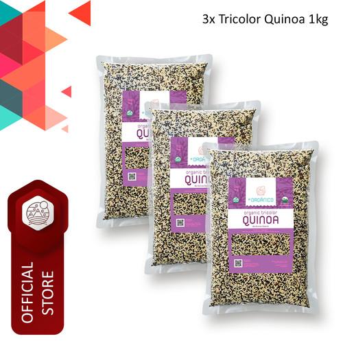 Foto Produk Tricolor Quinoa Organic El Organico 1kg (Triple Pack) dari ELorganico