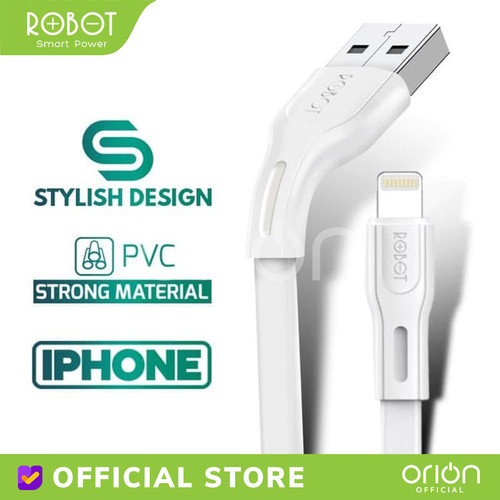 Foto Produk ROBOT Kabel Data Lightning Cable iPhone RDL100S Charger iPhone 2A - 1M dari ORION Official