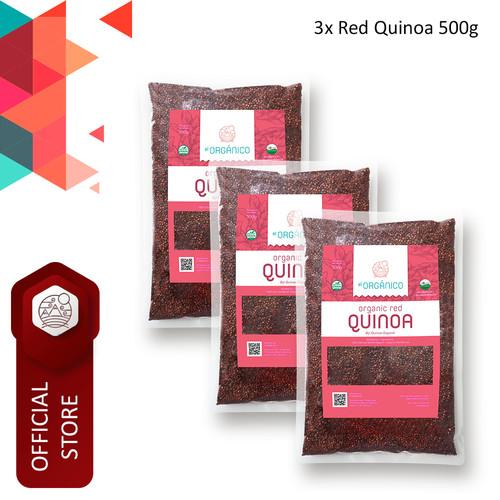 Foto Produk Red Quinoa Organic El Organico 500gr (Triple Pack) dari ELorganico