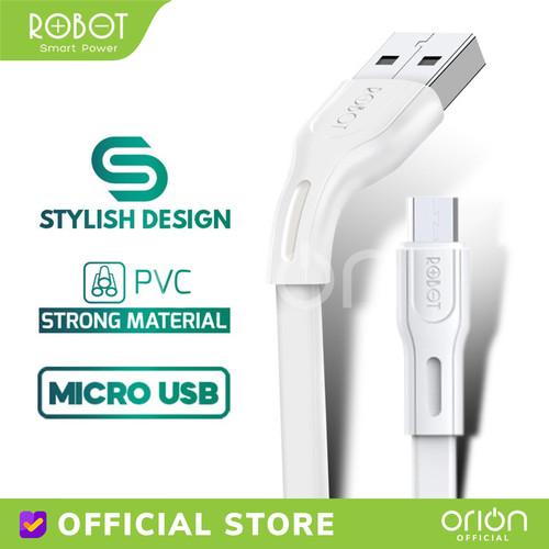 Foto Produk ROBOT Kabel Data Micro USB 1M Charger Samsung Xiaomi Android RDM100S dari ORION Official