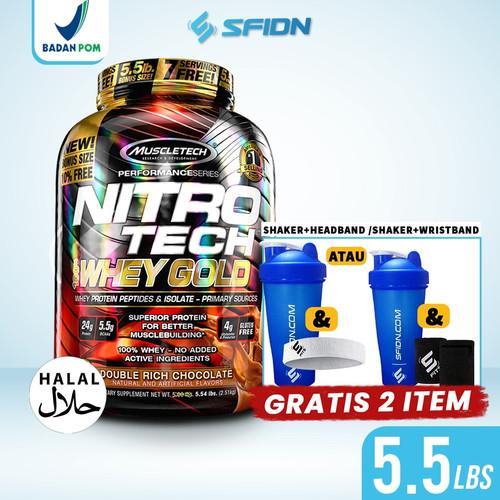 Foto Produk Muscletech Nitrotech 5.5 LBS Whey Gold Nitro Tech 5.5 Lbs whey protein - Coklat dari SuplemenfitnessID