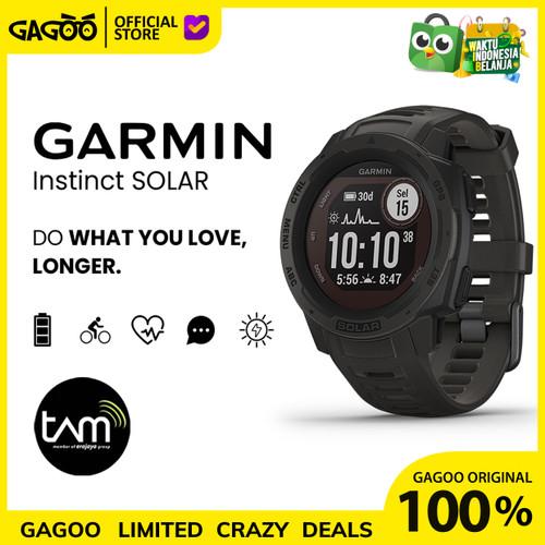 Foto Produk Garmin Instinct Solar GPS [ORIGINAL] Smartwatch Garansi Resmi TAM - Graphite dari Gagoo Official Store