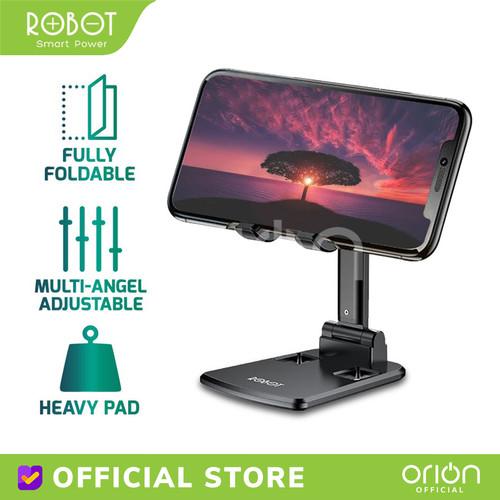Foto Produk ROBOT RT-US06 Liftable Foldable Phone Holder Stand HP Meja Original - Merah Muda dari ORION Official