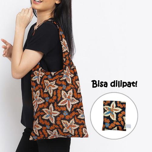 Foto Produk Anakara Tas Belanja Lipat Batik Estella - Black dari Anakara