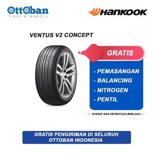 Foto Produk Ban Mobil Hankook Ventus V2 Concept H457 185 55 R16 dari ottoban indonesia