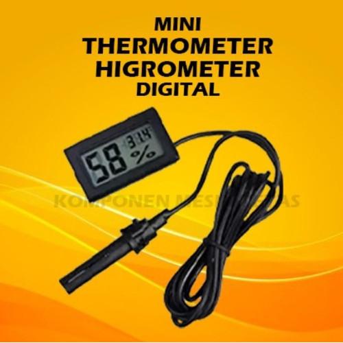 Foto Produk Mini Thermometer Higrometer dengan Kabel Sensor dari Komponen Mesin Tetas