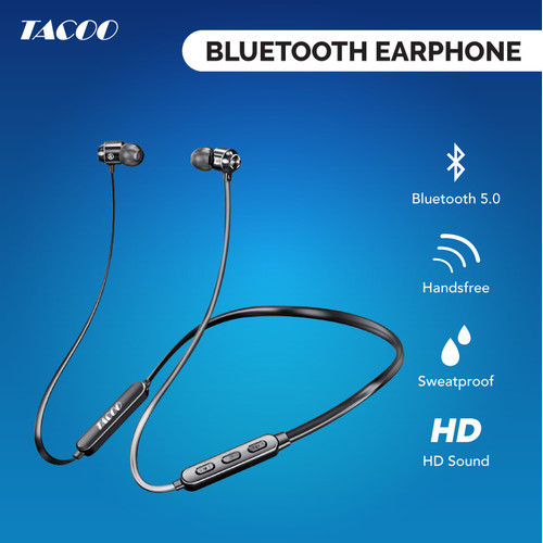 Foto Produk TACOO Sport Bluetooth Earphone Wireless Extra Bass dengan Mikrofon dari TACOO Official Store